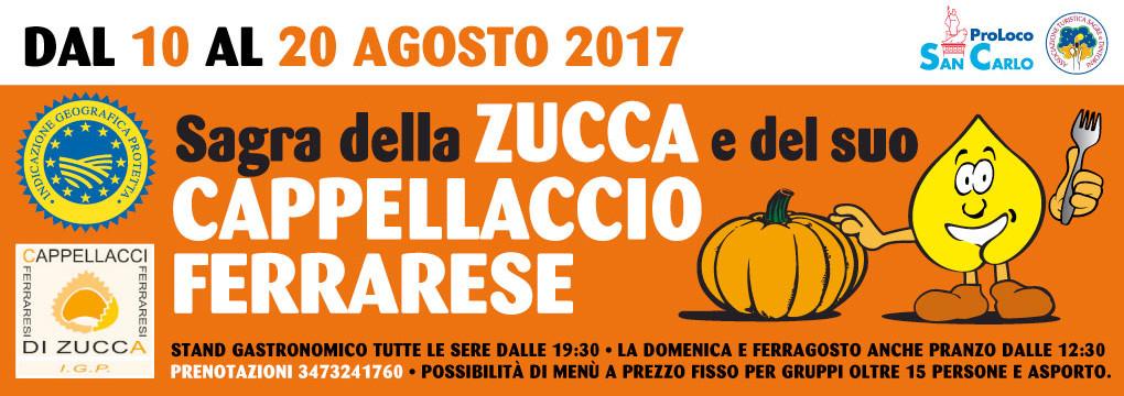 Sagra della zucca e del cappellaccio Ferrarese IGP 2017 San Carlo
