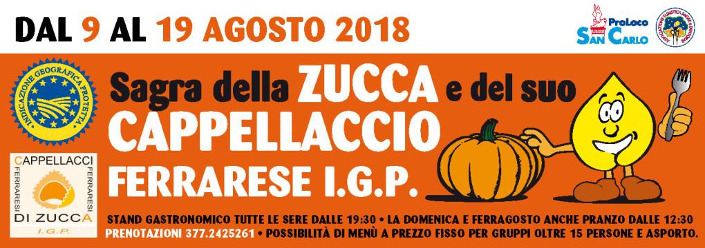 Sagra della zucca e del cappellaccio Ferrarese IGP 2018 San Carlo