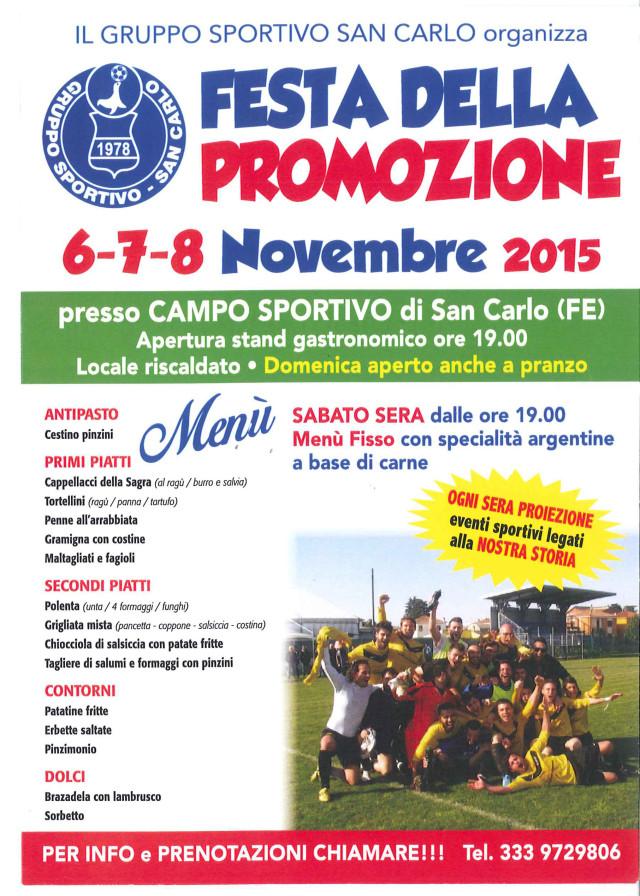 FESTA DELLA PROMOZIONE, 6-7-8 Novembre